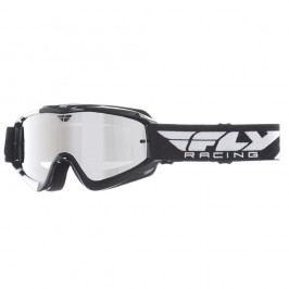 Fly Racing RS Zone Youth černé/bílé, zrcadlové plexi s čepy pro slídy