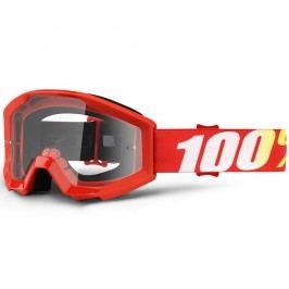 100% Strata Furnace červená, čiré plexi s čepy pro slídy