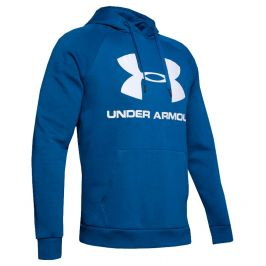Under Armour Rival Fleece Sportstyle Logo Hoodie Teal Vibe - M