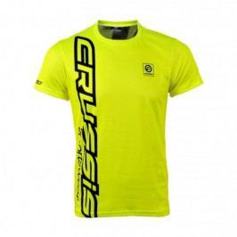 Crussis Pánské triko Crussis - krátký rukáv fluo žlutá - M