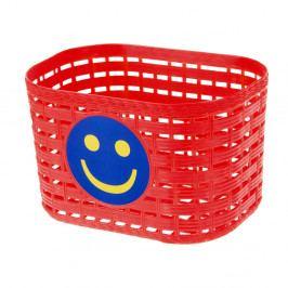 Cyklošvec Dětský přední košík plast červená