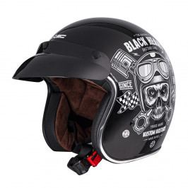 W-TEC Kustom Black Heart Skull, černá lesk - XXL (63-64)