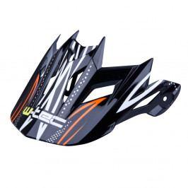 W-TEC Kšilt k helmě AP-42 černo-oranžová