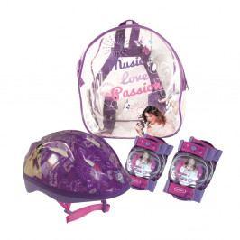 Violetta Dětský set - helma + chrániče kolen a loktů