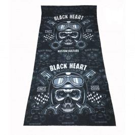 BLACK HEART Piston Skull černá