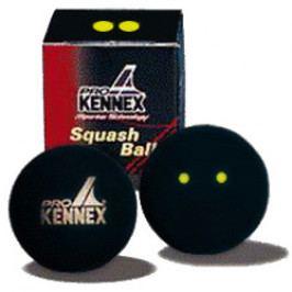 Míček pro squash Pro Kennex - 2 žluté tečky 1 kus