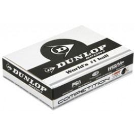 Squashové míčky Dunlop - 1 žlutá tečka - balení po 12 ks