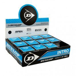 Squashové míčky Dunlop Intro - modrý - balení po 12 ks