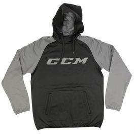 Mikina CCM Pullover Hood Black/Dark Grey SR