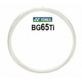 Yonex BG 65 Ti 10 m bílá