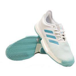 Dámská tenisová obuv adidas SoleCourt Boost Parley White - EUR 40