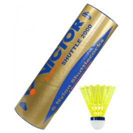Badmintonové míče Victor Nylon Shuttle 2000 Gold - Yellow (6 ks)