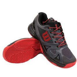 Juniorská tenisová obuv Wilson Rush Pro QL Black/Red