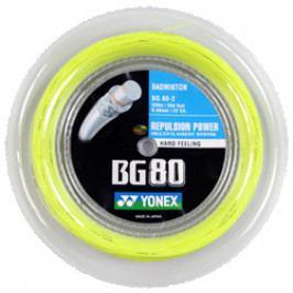 Badmintonový výplet Yonex Micron BG80 (0.68 mm) Yellow - délka 200 m