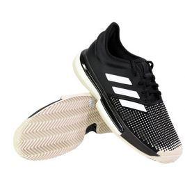 Pánská tenisová obuv adidas SoleCourt Boost M Clay Black/White