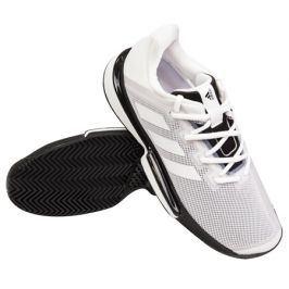 Pánská tenisová obuv adidas SoleMatch Bounce M White/Black