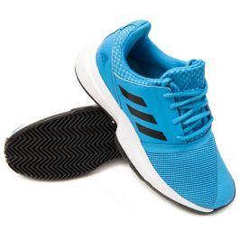 Juniorská tenisová obuv adidas CourtJam Clay xJ Blue