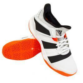 Pánská sálová obuv adidas Stabil X White/Orange