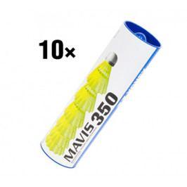10x Badmintonové míče Yonex Mavis 350 Yellow (dóza po 6 ks)