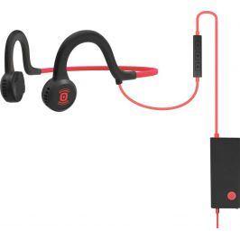 AfterShokz Sportz Titanium Mic sluchátka před uši s mikrofonem červená
