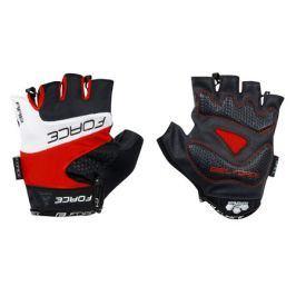 Cyklistické rukavice FORCE RAB gel červené