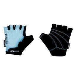 Cyklistické rukavice FORCE dětské světle modré