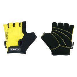 Cyklistické rukavice FORCE SHORTY dětské žluté