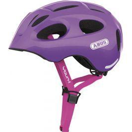 Dětská cyklistická helma ABUS Youn-I sparkling purple