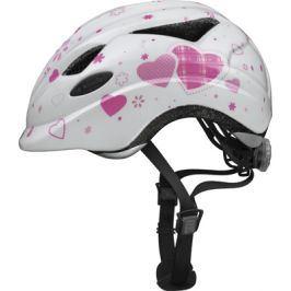 Dětská cyklistická helma ABUS Anuky white heart