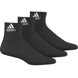 Ponožky adidas Performance Ankle T Black 3 páry