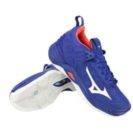 Pánská sálová obuv Mizuno Wave Momentum Reflex Blue/White