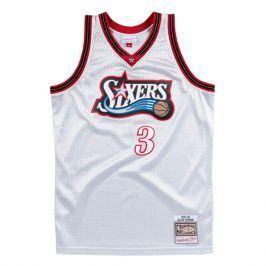 Dres Mitchell & Ness Platinum Swingman Jersey NBA Philadelphia 76ers Allen Iverson 3