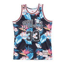 Dres Mitchell & Ness Floral Swingman Jersey NBA Chicago Bulls Scottie Pippen 33
