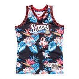 Dres Mitchell & Ness Floral Swingman Jersey NBA Philadelphia 76ers Allen Iverson 3