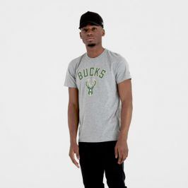 Pánské tričko New Era NBA Milwaukee Bucks Light Grey