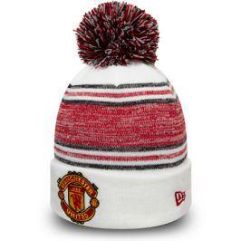 Zimní čepice New Era Bobble Cuff Manchester United FC White