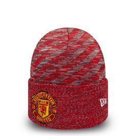 Zimní čepice New Era Oversized Pattern Cuff Manchester United FC Scarlet