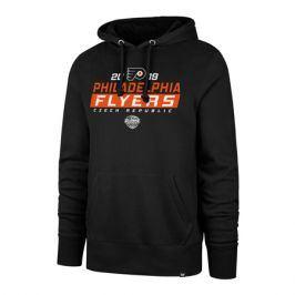 Pánská mikina s kapucí 47 Brand Headline Hood NHL Philadelphia Flyers černá GS19