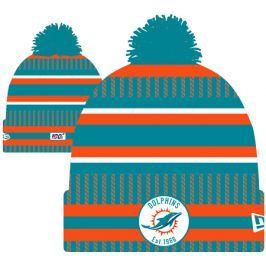 Zimní čepice New Era Onfield Cold Weather Home NFL Miami Dolphins