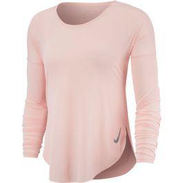 Dámské tričko Nike City Sleek Top LS oranžové