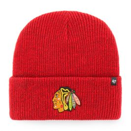 Zimní čepice 47 Brand Brain Freeze Cuff Knit NHL Chicago Blackhawks