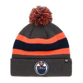 Zimní čepice 47 Brand Breakaway Cuff Knit NHL Edmonton Oilers šedá