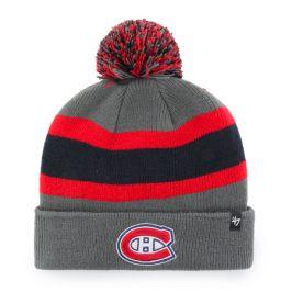 Zimní čepice 47 Brand Breakaway Cuff Knit NHL Montreal Canadiens šedá