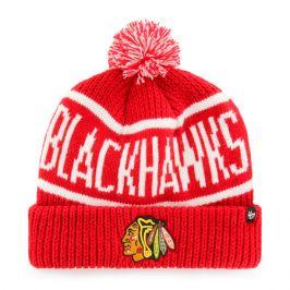 Zimní čepice 47 Brand Calgary Cuff Knit NHL Chicago Blackhawks červená