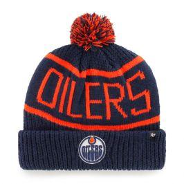 Zimní čepice 47 Brand Calgary Cuff Knit NHL Edmonton Oilers tmavě modrá