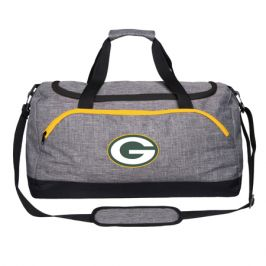Sportovní taška Forever Collectibles Heather Grey Duffel NFL Green Bay Packers