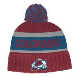 Zimní čepice adidas Culture Cuffed Knit Pom NHL Colorado Avalanche