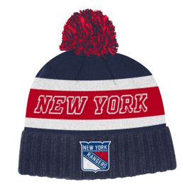 Zimní čepice adidas Culture Cuffed Knit Pom NHL New York Rangers