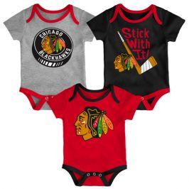 Dětské body Outerstuff NHL Chicago Blackhawks 3 ks