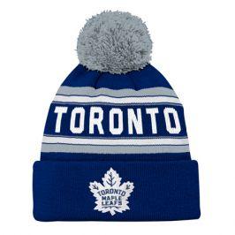 Dětská zimní čepice adidas Jacquard Cuffed Knit With Pom NHL Toronto Maple Leafs